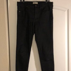 "Madewell Jeans - Madewell 10"" High-Rise Skinny Jeans. Black. Sz. 31"